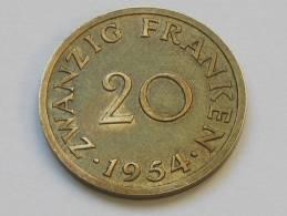 20 Franken 1954 - SARRE - Saarland - Etat Proche Du SUP !!!! - Sarre