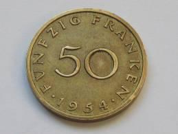 50 Franken 1954 - SARRE - Saarland - Etat Proche Du SUP !!!!  *** Monnaie Assez Rare **** - Sarre