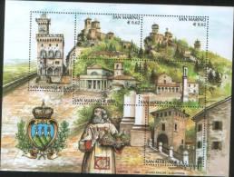 San Marino 2002 Foglietto Serie Turistica  ** MNH - San Marino