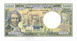 Polynésie Française / Tahiti - 5000 F CFP - Alphabet W.016 / 2012 / Signatures Barroux / Noyer / Besse - Neuf / UNC - Papeete (Polynésie Française 1914-1985)