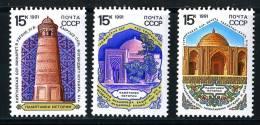 11933)  RUSSIA 1991  Mi.#6174-76  Sc# 5968-70  (**) - 1923-1991 USSR