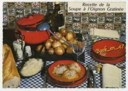 """{55046} Recette """" La Soupe à L'Oignon Gratinée """" ; Par Emilie Bernard - Recettes (cuisine)"""