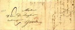 PRECURSEUR - OOSTERZELE 1839 POUR GAND  - TYPE 18 - OOSTERZELE - A VOIR - Postmark Collection
