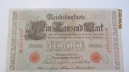 """Reichsbanknote """"Ein Tausend Mark"""" Berlin, Den 21. April1910  Nr. 5683308 J - 1871-1918: Deutsches Kaiserreich"""