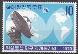 """KOREA SUED 719 """"Inbetriebnahme Der Erdfunkstelle,Kum San"""" MNH / ** / Postfrisch - Korea (Süd-)"""