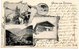 Gruss Aus Klosters 1898 Postcard - GR Grisons