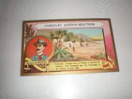Chromo Chocolat Guérin Boutron Explorateur Marquis De Morès, Serie Explorateurs, Exposition Universelle 1889 - Guérin-Boutron