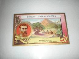 Chromo Chocolat Guérin Boutron Explorateur Savorgnan De Brazza, Serie Explorateurs, Exposition Universelle 1889 - Guérin-Boutron
