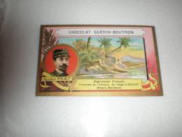 Chromo Chocolat Guérin Boutron Explorateur Adjudant Prat, Serie Explorateurs, Exposition Universelle 1889 - Guerin Boutron