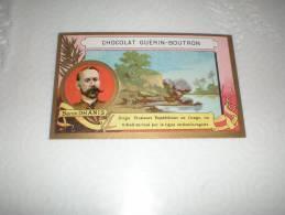 Chromo Chocolat Guérin Boutron Explorateur Baron Dhanis, Serie Explorateurs, Exposition Universelle 1889 - Guerin Boutron