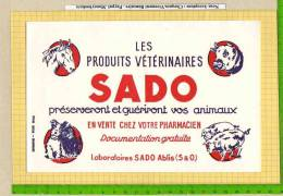 BUVARD :Les Produits Veterinaires SADO  Cheval Vache Cochon Chiens - Agriculture