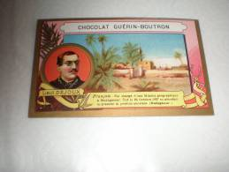 Chromo Chocolat Guérin Boutron Explorateur Lieutenant Dejoux, Serie Explorateurs, Exposition Universelle 1889 - Guérin-Boutron