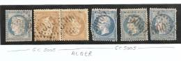 GC 5005 - Alger - Algerie - Sur Timbres Differents - Marcophilie (Timbres Détachés)