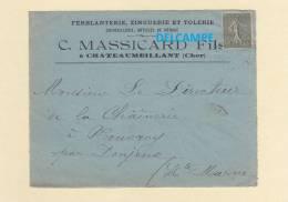 Enveloppe Ancienne - CHATEAUMEILLANT ( Cher ) - Ferblanterie Zinguerie Tolerie MASSICARD - - France