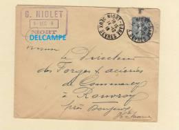 Enveloppe Ancienne - NIORT - Maison G. NIOLET - 1918 - France