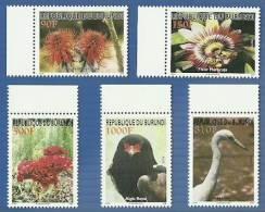 bur0802 Burundi 2008 Flower Eagle Bire 5v