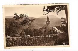 CPSM 04 - UBAYE - L´Eglise - TB Plan Général De Ce Petit Village - Autres Communes
