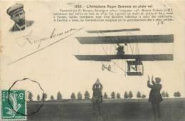 AEROPLANE ROGER SOMMER EN PLEIN VOL AVEC AUTOGRAPHE - Piloten