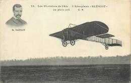 AEROPLANE BLERIOT EN PLEIN VOL - Piloten