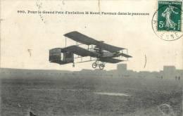 HENRI FARMAN DANS LE PARCOURS POUR LE GRAND PRIX D'AVIATION - Piloten