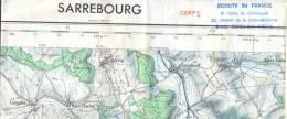 Carte IGN 1/50000 - Sarrebourg - édition De 1971 - Topographical Maps