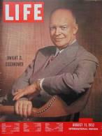 Magazine LIFE - AUGUST 11, 1952 -  INTERNATIONAL EDITION         (3002) - Nouvelles/ Affaires Courantes
