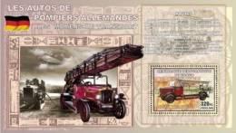 cdr0802a R.D.Congo 2008 THE GERMAN CAR FIRE Firemen s/s Flag Zeppelin