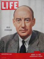 Magazine LIFE - AUGUST 25 , 1952 -  INTERNATIONAL EDITION     (3003) - Nouvelles/ Affaires Courantes