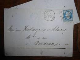 C17.n°14 ,de ST ETIENNE  A  Bordeaux,ambulants Verso; Variété ;A VOIR§§ - 1862 Napoleone III