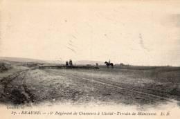 BEAUNE Quartier Colbert 16eme Regt Des Chasseurs - Terrain Et Manoeuvre  - CPA Rare - Beaune