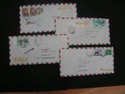 == Somalia, 4  Luftpost  Briefe  R-cv, Fine Offer - Somalia (1960-...)