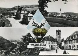 CPSM 67  WASSELONNE MULTI VUES    Grand Format - Wasselonne