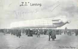 Réf : A -13- 1436 :  Zeppelin Original Aufnahmen  Z.I. Landung - Dirigibili