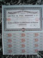 Action - France - Manufacture Des Engrais Novo  - Fils De Paul Bernard - Lomme 59 - Action 100 F - 1930 - Industrie