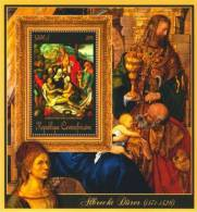 ca11418e Central African 2011 Paintings of Albrecht Durer s/s