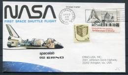 1981 USA Spacelab ESA Space Shuttle Cover - Kenndy Space Centre - Covers & Documents