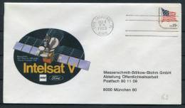 1980 USA Intelsat 5 Cape Canaveral Space Rocket Cover - Covers & Documents