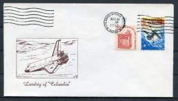 1982 USA Whitesands Missile Range Columbia Space Shuttle Cover - Covers & Documents