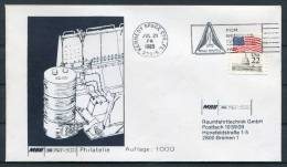 1985 USA Kennedy Space Centre Space Shuttle IGLOO Cover - Covers & Documents