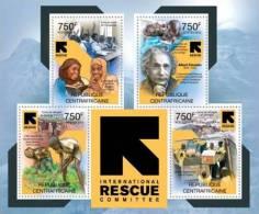 ca12111a Central African 2012 International Rescue Committee s/s Albert Einstein