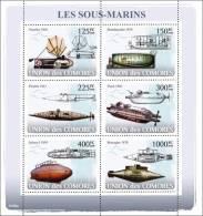 cm8108a Comores 2008 Submarines s/s