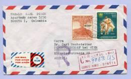 Air Mail Registered Certificado Letter COLOMBIA KOLUMBIEN BOGOTA To AUSTRIA 1962 (857) - Kolumbien
