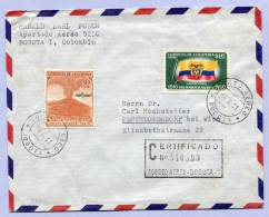 Air Mail Registered Certificado Letter COLOMBIA KOLUMBIEN BOGOTA To AUSTRIA 1961 (858) - Kolumbien
