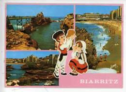 Biarritz Vierge Port Pêche Plage Multivues Folklore Basque Dessin V. Aslan Oiffe Costume Chahakoa - Biarritz