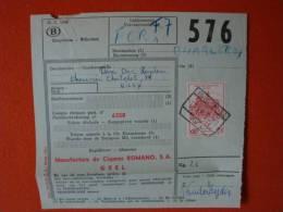 Belgien:Postpaketkarte ! - Postdokumente