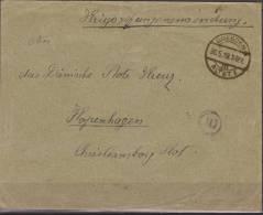 Deutschland, 1917 - 19, Prisoner Of War Mail, From Dresden To Danish Red Cross Kopenhagen With Censor Marks - WO1