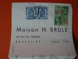 Belgien: Bankbeleg Frankiert Mit Briefmarken Und Gebührenmarken ! - Dokumente