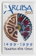 ARUBA (15) Télécarte Telefonkarte Phonecard Telefoonkaart - Aruba