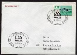 ALLEMAGNE  FDC Enveloppe  Dortmund 1    Cup  1974   Football  Soccer  Fussball - Coppa Del Mondo