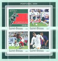 gb3112 Guinea Bissau 2003 Football EURO 2004 Porugal s/s Soccer
